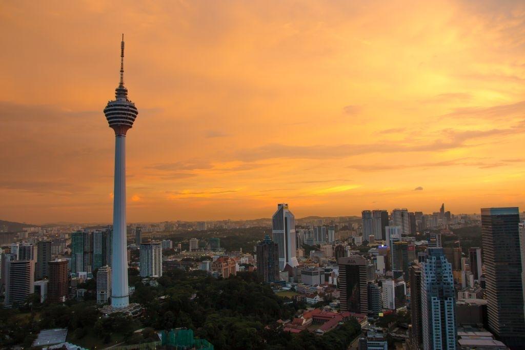 Kuala Lumpur, Blick von The Face auf Fernsehturm