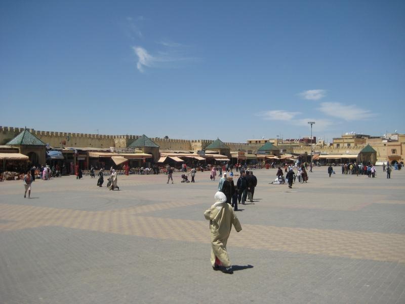 Marktplatz in Meknes