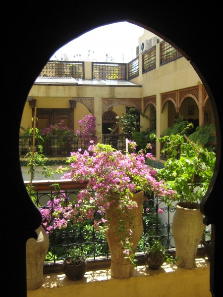 Blick aus dem Hotelzimmer in Fès