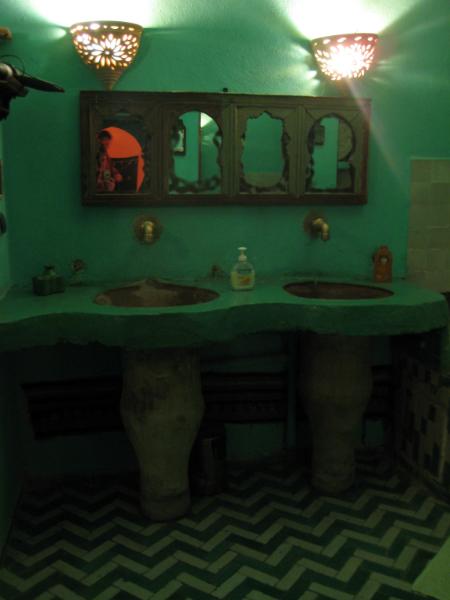 Unser Badezimmer in Fès