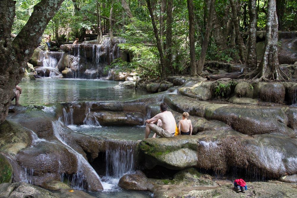 Wasserfall im Erawan Nationalpark, Kanchanaburi