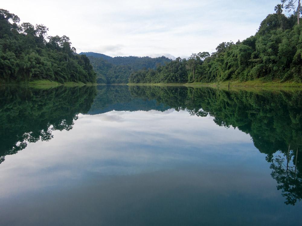 Wasserspiegelung im Khao Sok Nationalpark