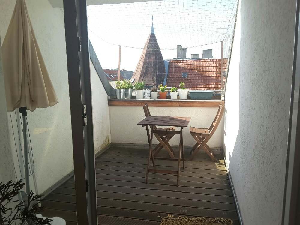 AirBnB-Wohnung Dachterrasse