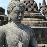 Borobudur - Sitzender Buddha