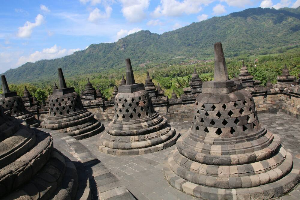 Borobudur - Stupas
