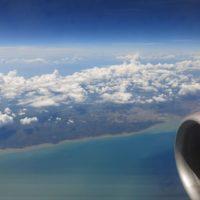 Flug über indonesiesche Insel