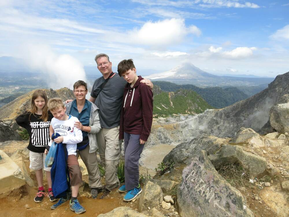 Gunung Sibayak - Familienbild