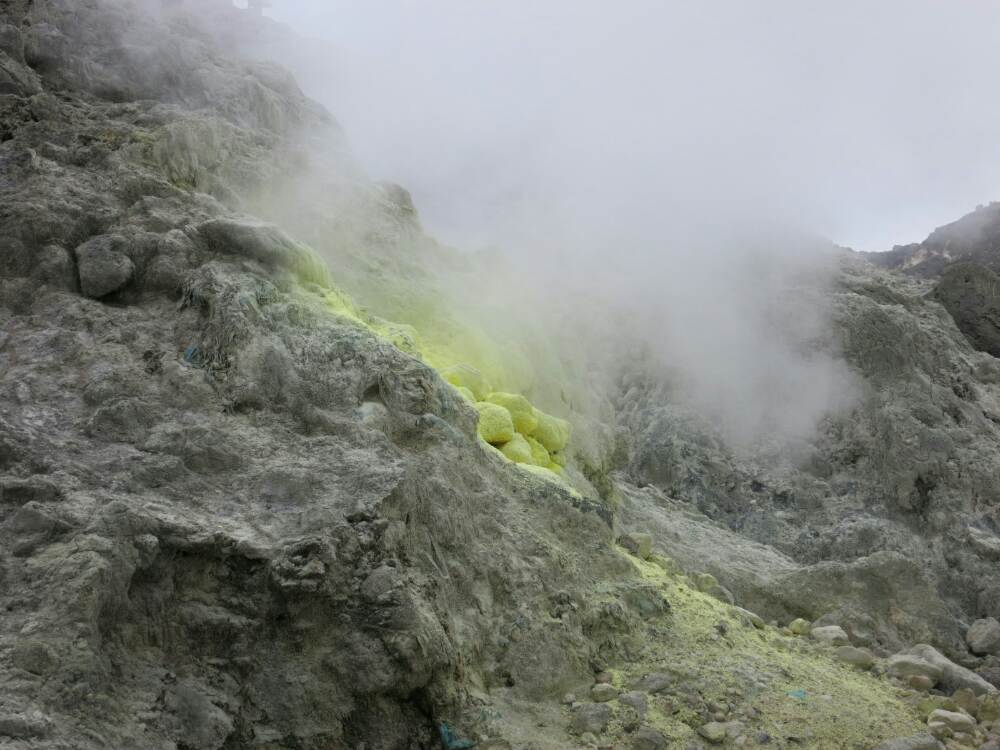 Gunung Sibayak - Schwefelfumerolen