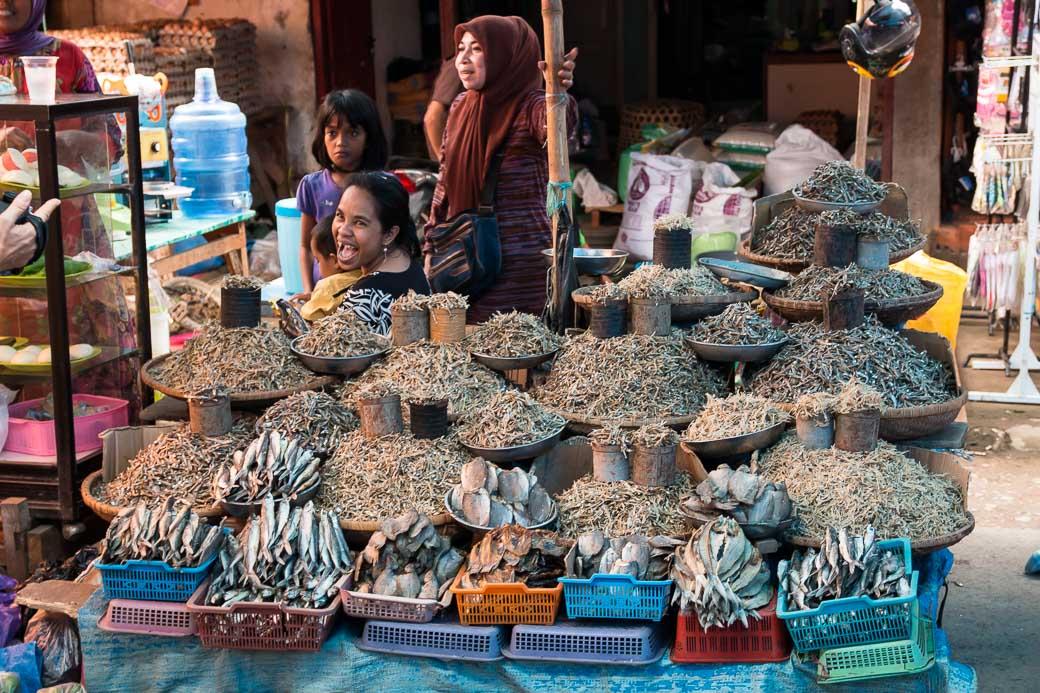 Getrockneter Fisch, Pasar Bolu