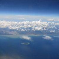 Indonesische Inseln aus der Luft