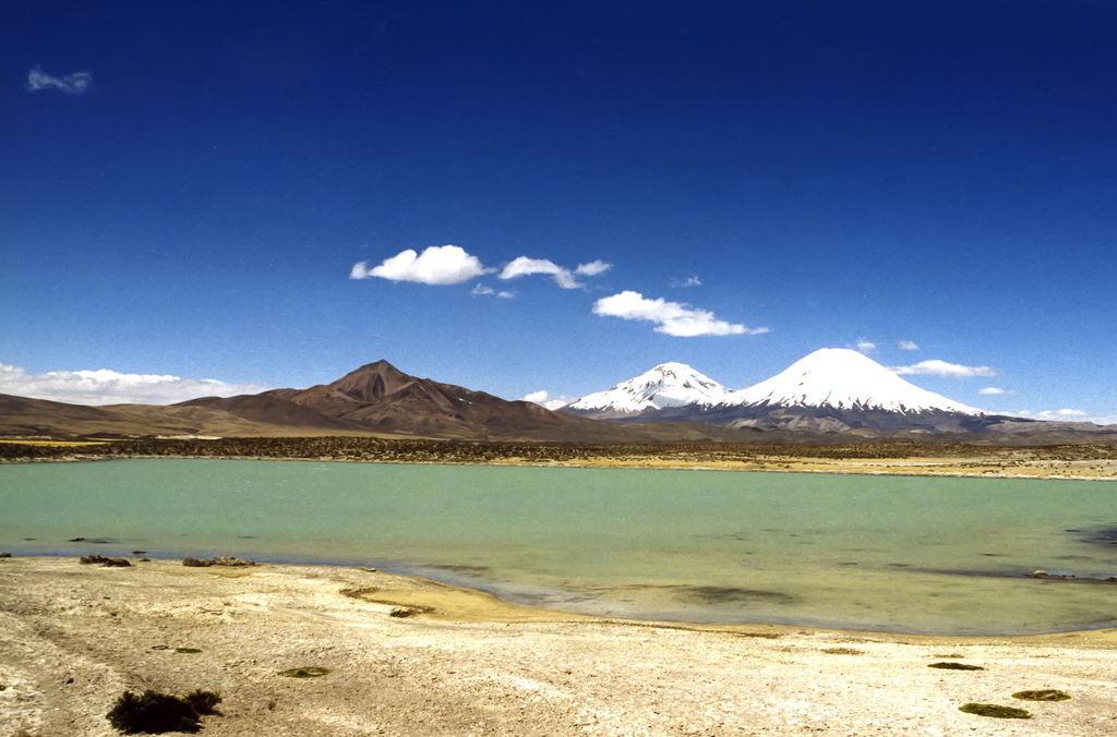 Atemberaubende Landschaft im Lauca National Park in Chile