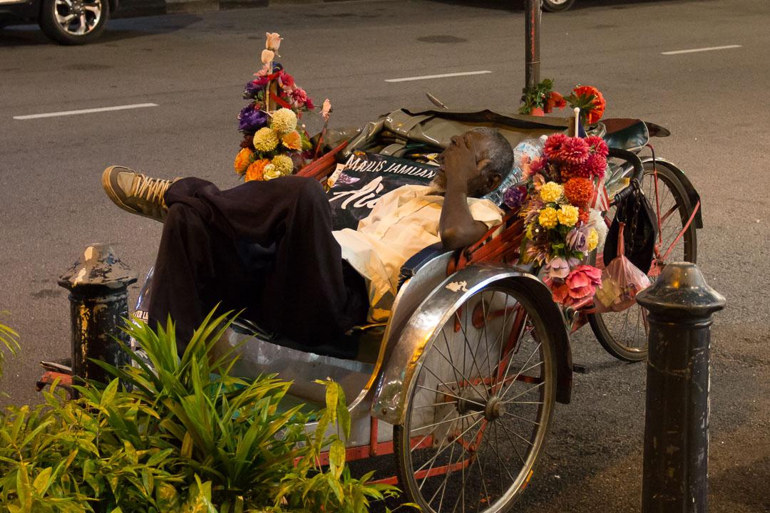 Fahrradrikshaw in Malaysia