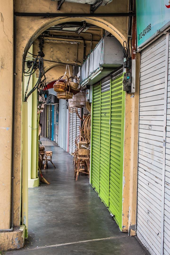 Geschlossene Geschäfte, George Town, Malaysia