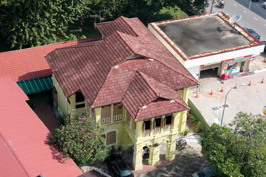 Kolonialstilhaus von oben, George Town, Malaysia
