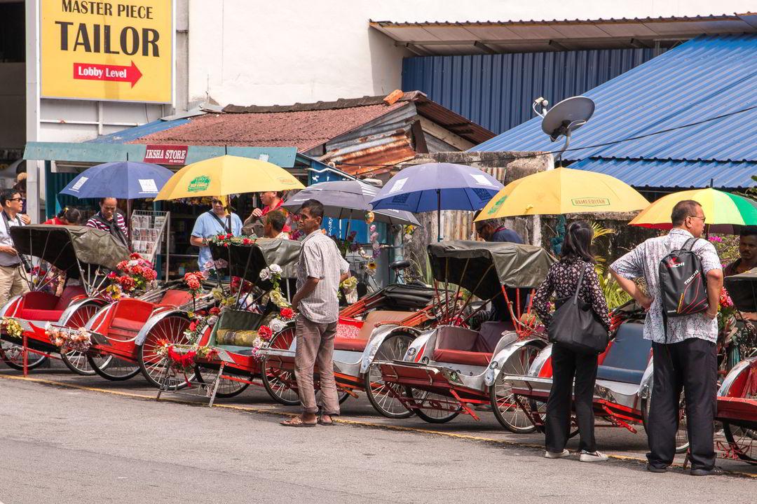 Fahrrad-Rikschas, George Town, Malaysia