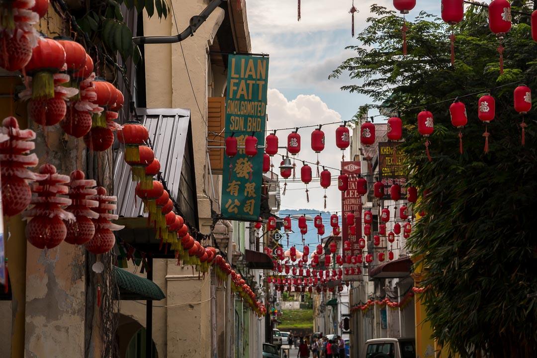 Straßen-Lampions, Ipoh, Malaysia