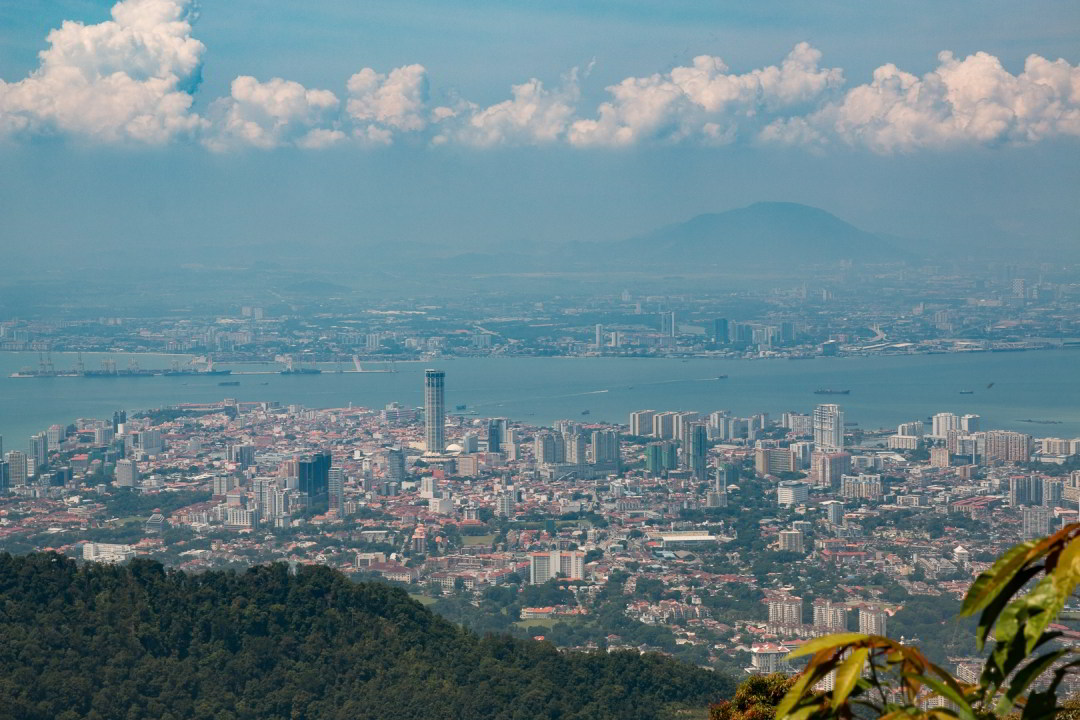Blick vom Penang Hill, Malaysia