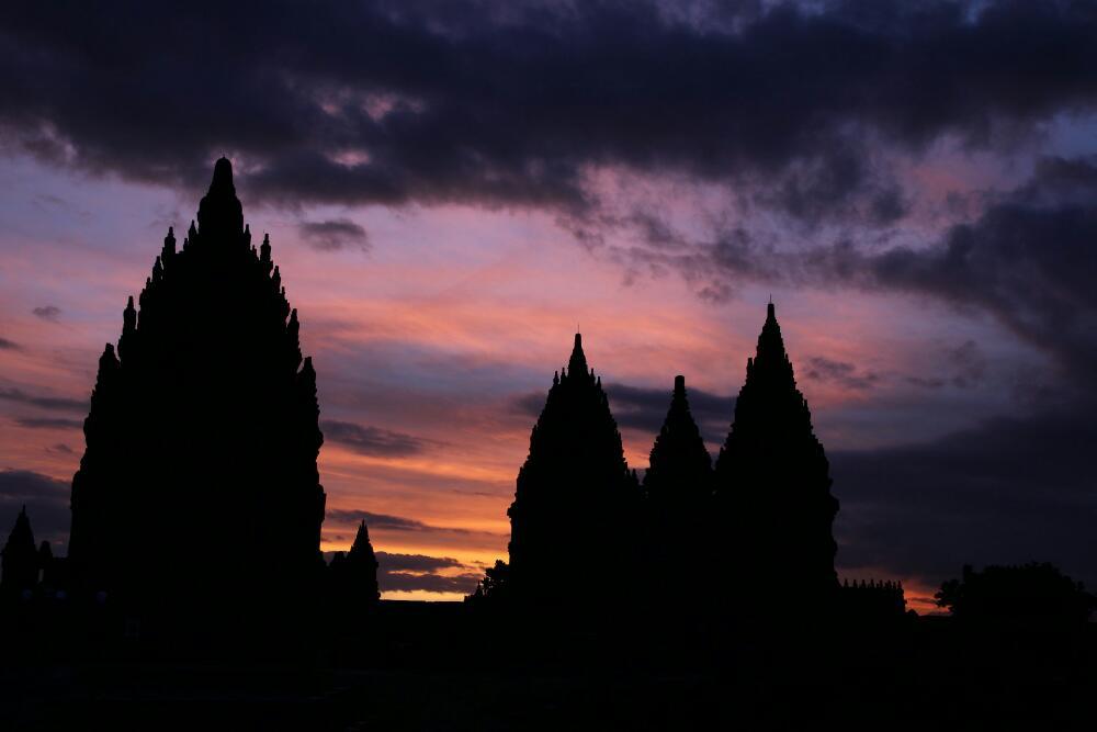 Prambanan - Sonnenuntergang