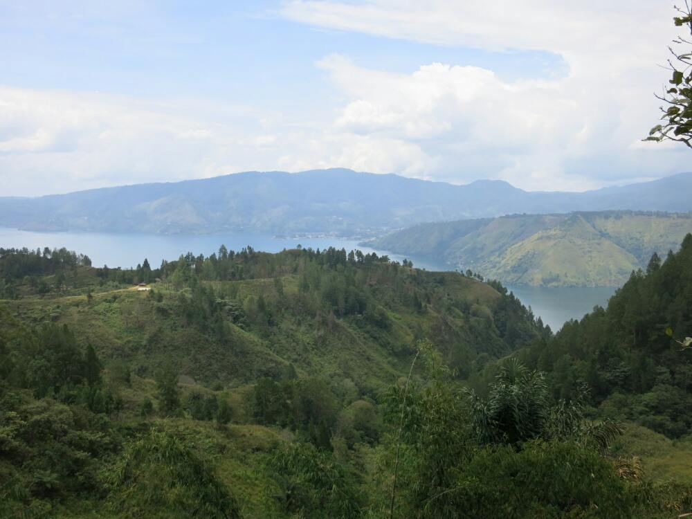 Samosir-Tour - Blick auf den See