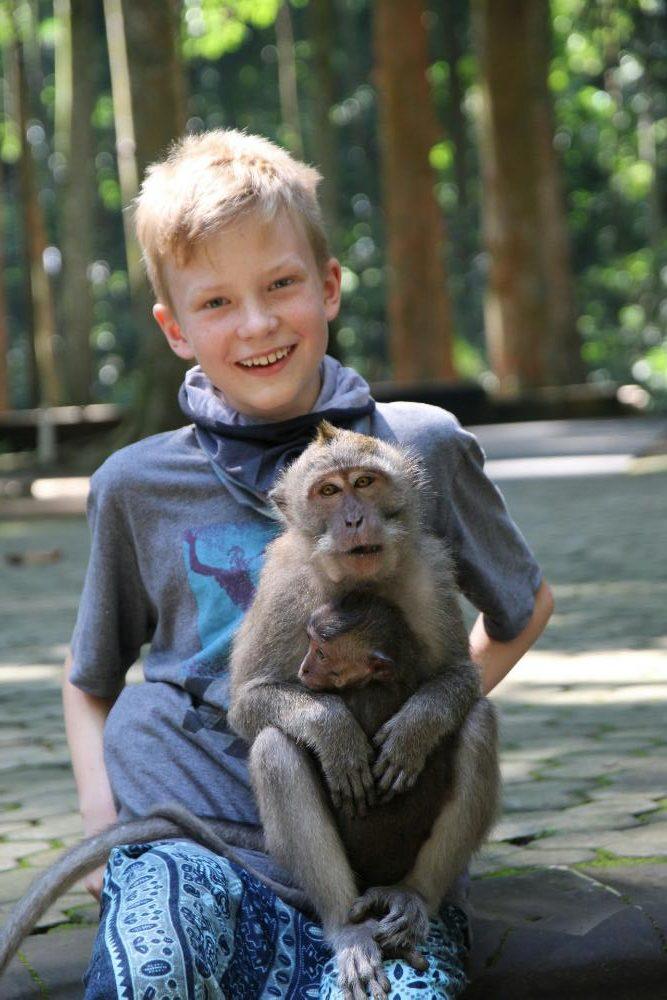 Sangeh - Mattis mit Affen