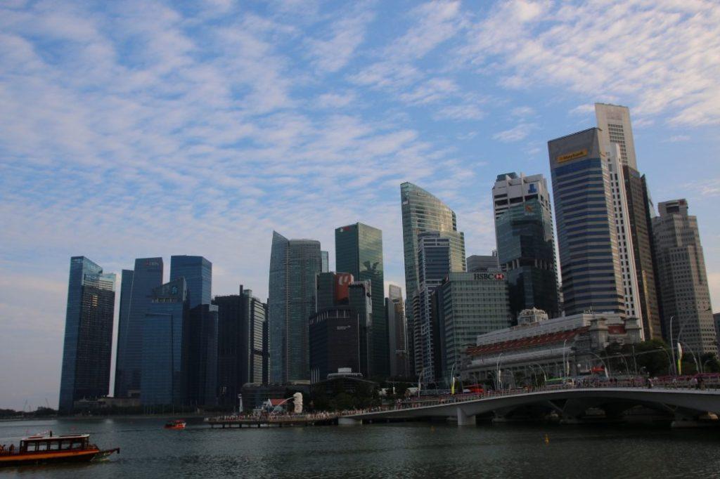 Singapur Banking Skyline