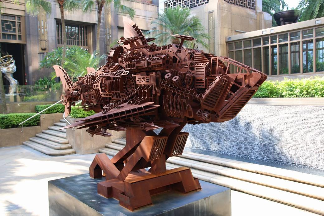 Singapur Fisch-Skulptur