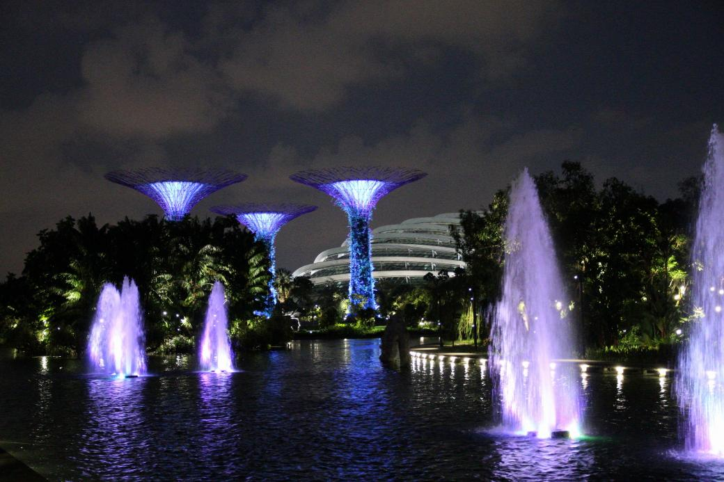 Singapur Gardens By The Bay Fontaenen