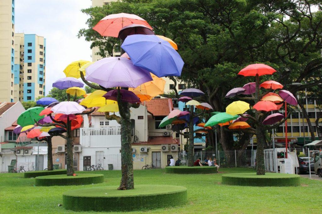 Singapur Little India Sonnenschirmpark