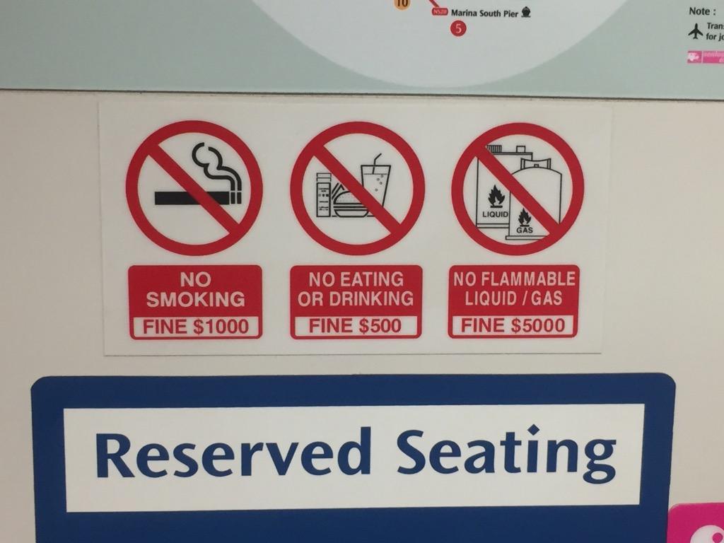 Singapur hohe Strafen