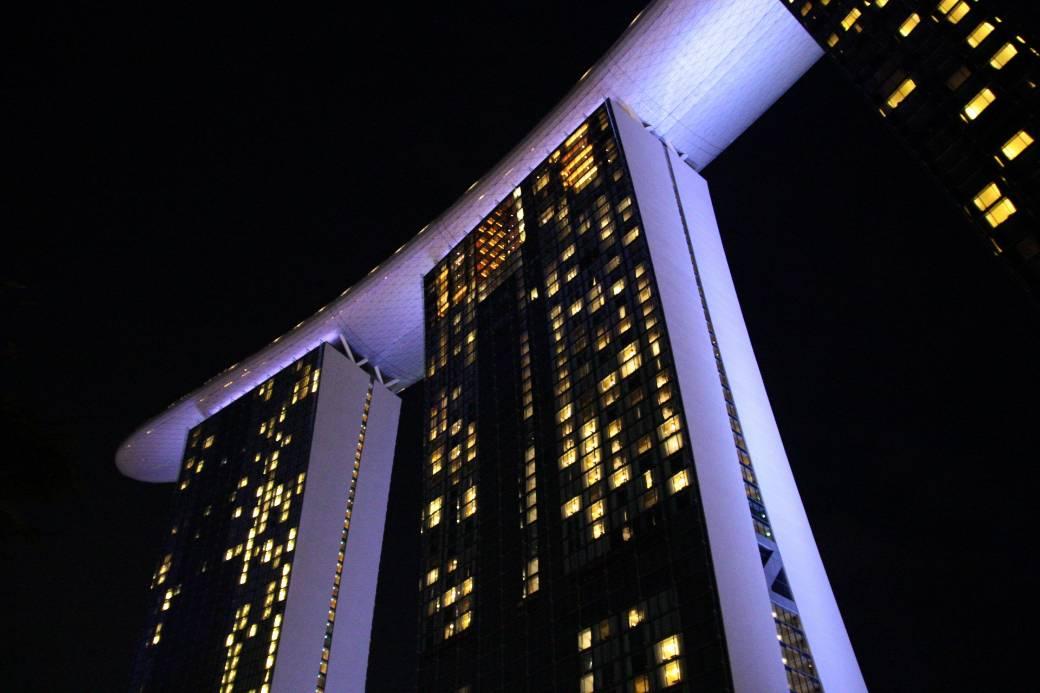 Singapur Marina Bay Sands bei Nacht