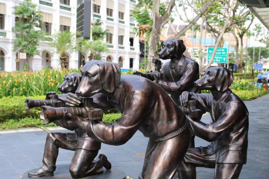 Singapur Skulputuren