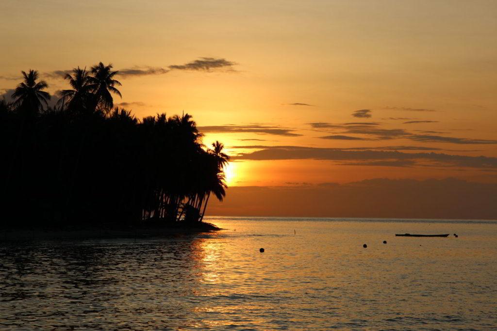 Togians Malenge Sonnenuntergang