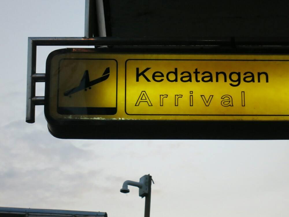 Yogjakarta - Flughafen Ankunft