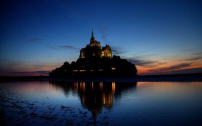 Nasse Füße beim Mont St. Michel