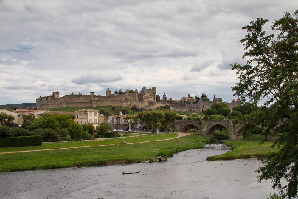 Durch die mittelalterlichen Gassen von Carcassonne