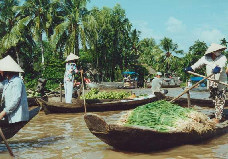 Floating-Market und Obstinseln im Mekong