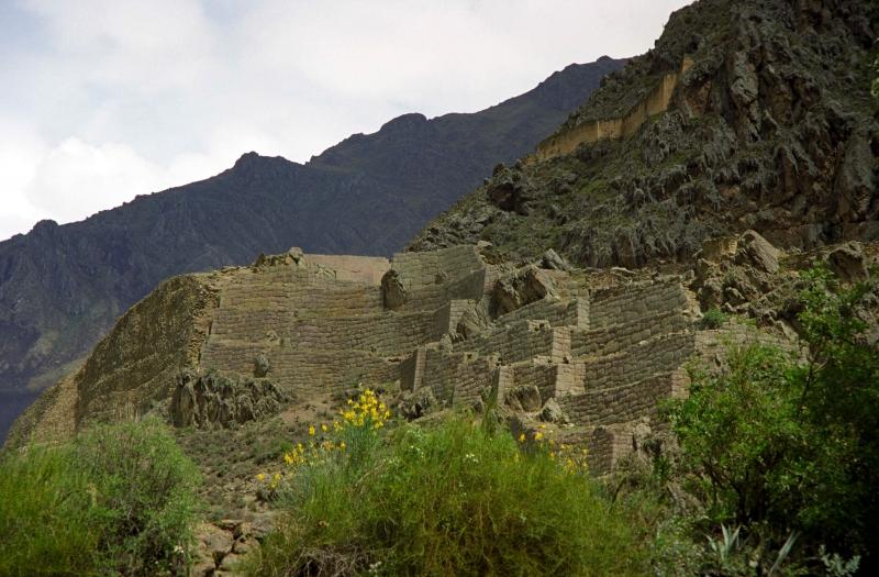 Inkaruinen in Ollantaytambo